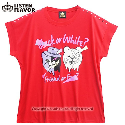 LISTEN FLAVOR DORODORO SHIROKUMA & KUROKUMA Big T-Shirt