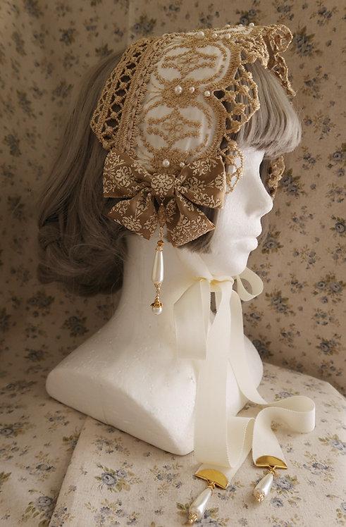 "Minori Headdress ""Victorian Headdress"" Antique White"