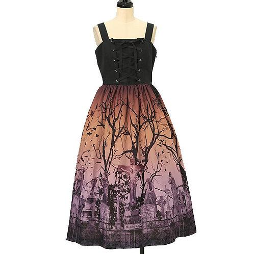 Moi-même-Moitié Sleeping Garden Lace-up Long Jumper Skirt