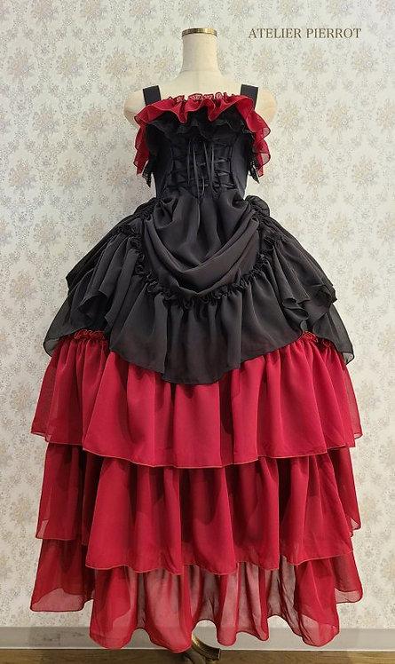 ATELIER PIERROT Long Bustle Lace-up Jumper Dress