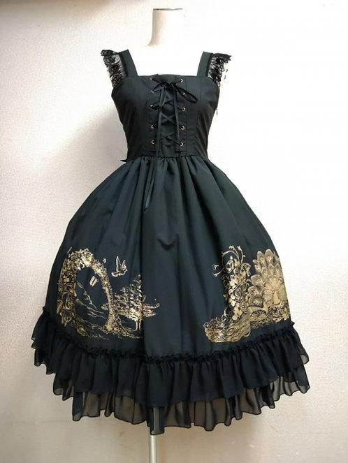 ATELIER PIERROT Eden Lace-up Jumper Dress