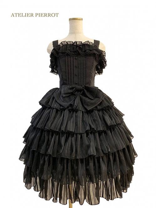 ATELIER PIERROT Shiny Chiffon Corset Dress