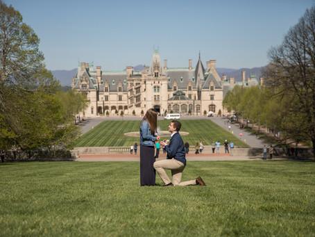 Biltmore Proposal:  John + Brittany