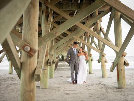 Apache Pier Wedding:  P + M