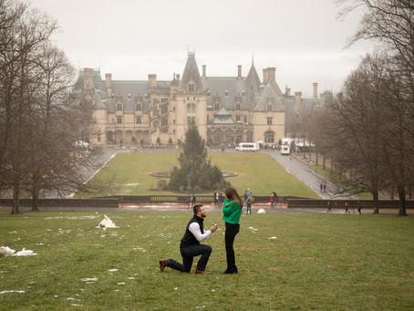 Biltmore Surprise Proposal:  Jarrett + McKenzie