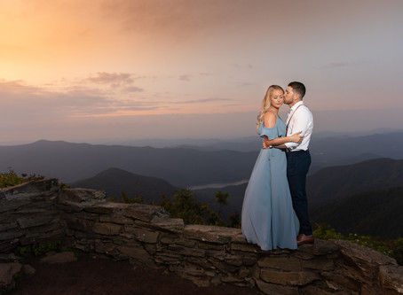 Craggy Gardens Engagement Photos : A +C