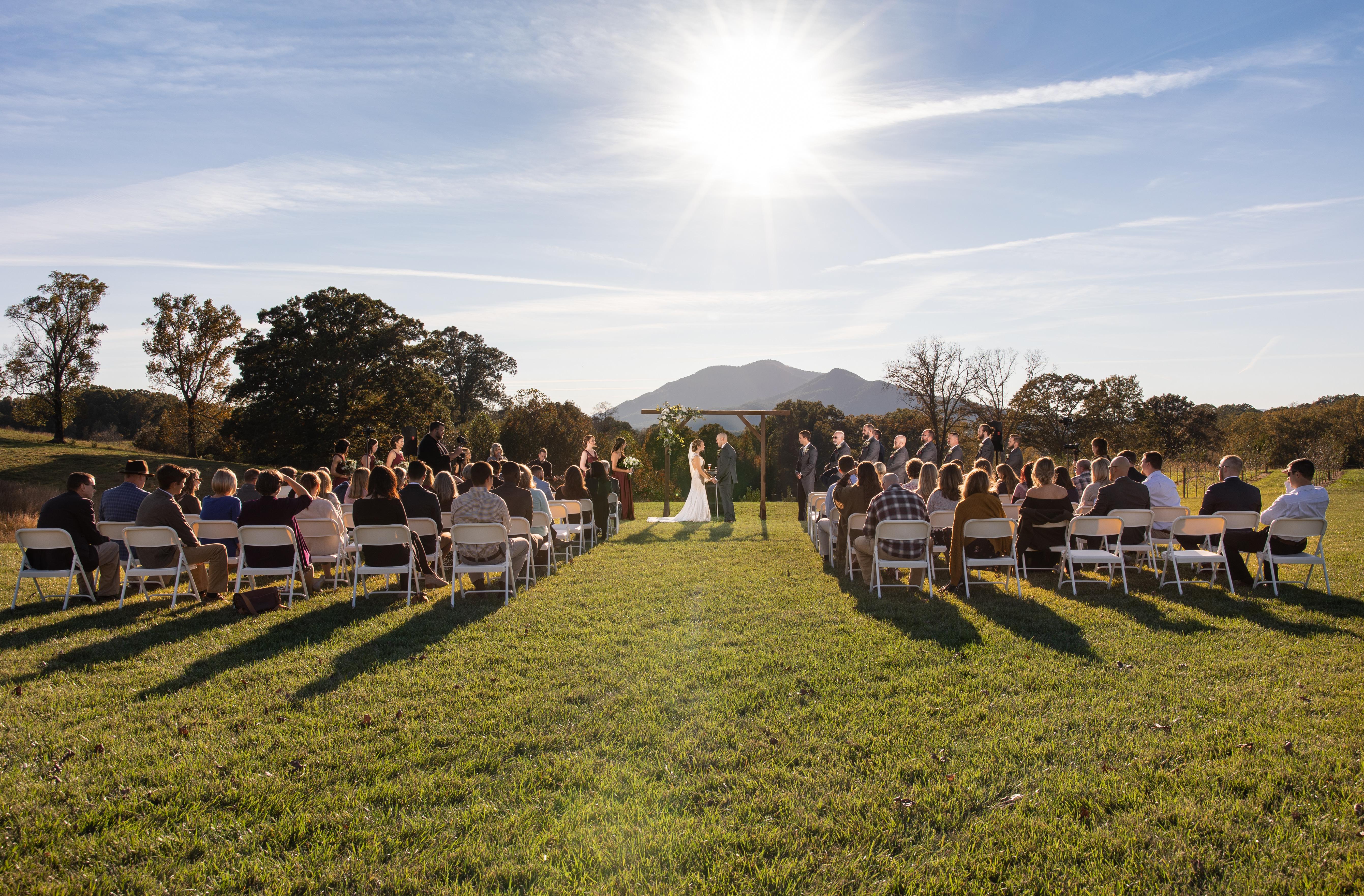 Wedding Ceremony at Caitlyn Farms
