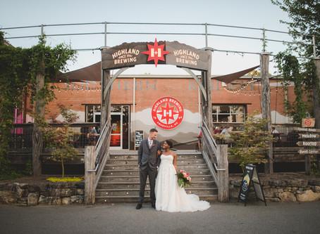 Highland Brewing Wedding Asheville: E + L