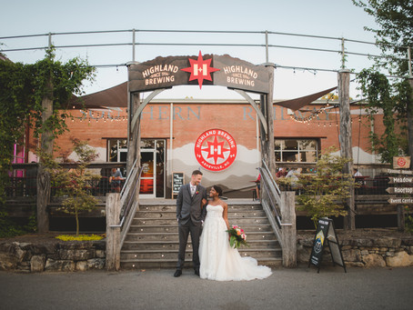 Highland Brewing Wedding Asheville: E + L