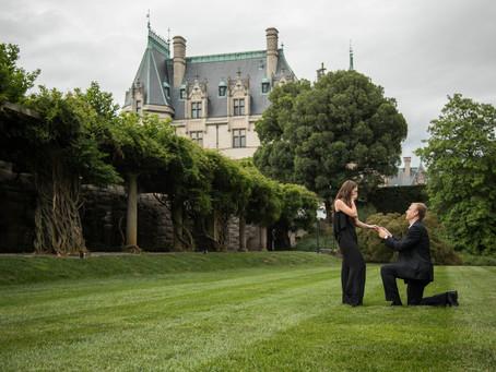 Biltmore Proposal:  John + Hannah