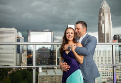 Charlotte Rooftop engagement