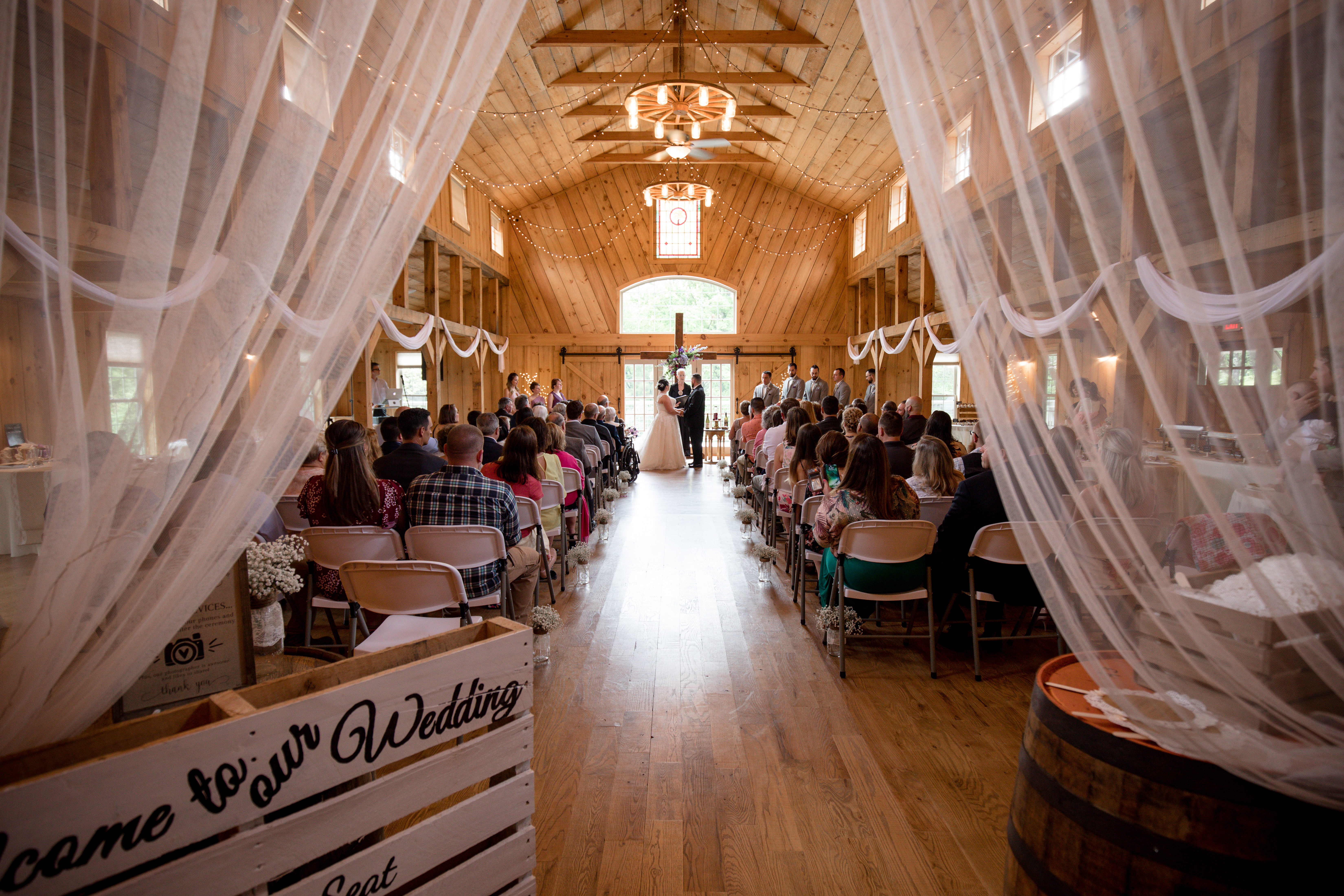 Wedding at The barn at Tall Oaks