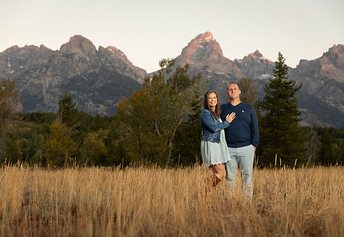 An engagement photo of a couple in Jacks