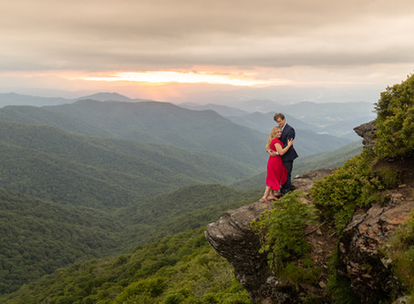 Craggy Gardens Engagement Session: C + J