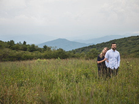 Big Bald Mountain Engagement:  Kristy + Jordan