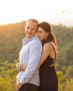 Golden hour engagement at The Parker Mill