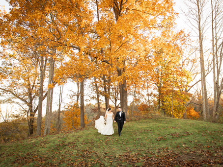 Fall wedding at The Crest Center: J+M