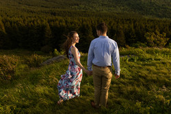 Engagement photos near Asheville