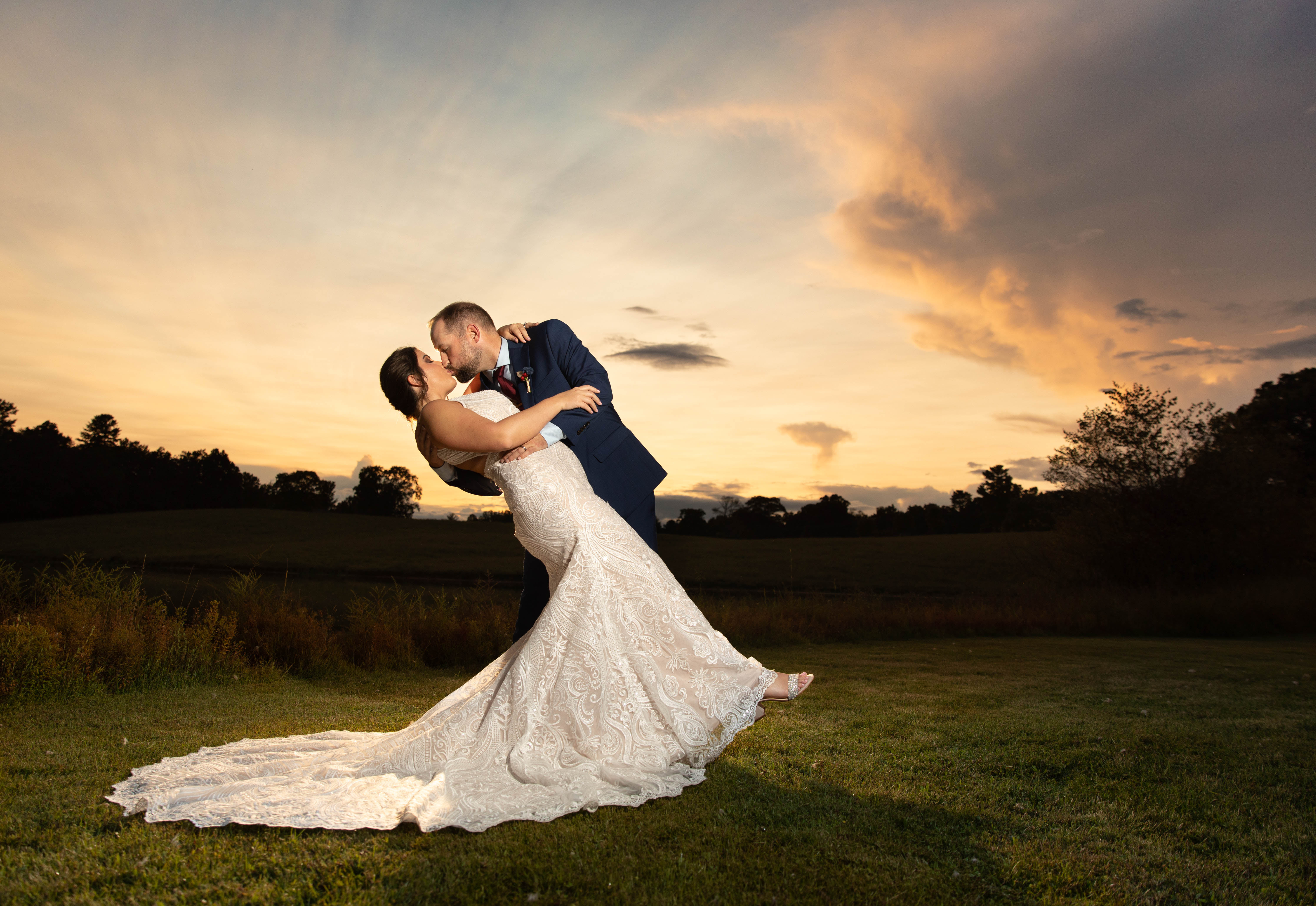 sunset wedding at taylor ranch