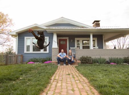 Asheville Front Porch Engagement:  E + M