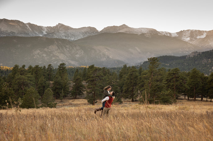 Adventure Engagement Rocky Mountains
