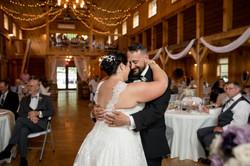 First Dance barn at tall oaks farm