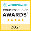 2021 Couple's Choice Award by Wedding Wire