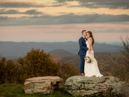 Fall Wedding at Overlook Barn: A + B
