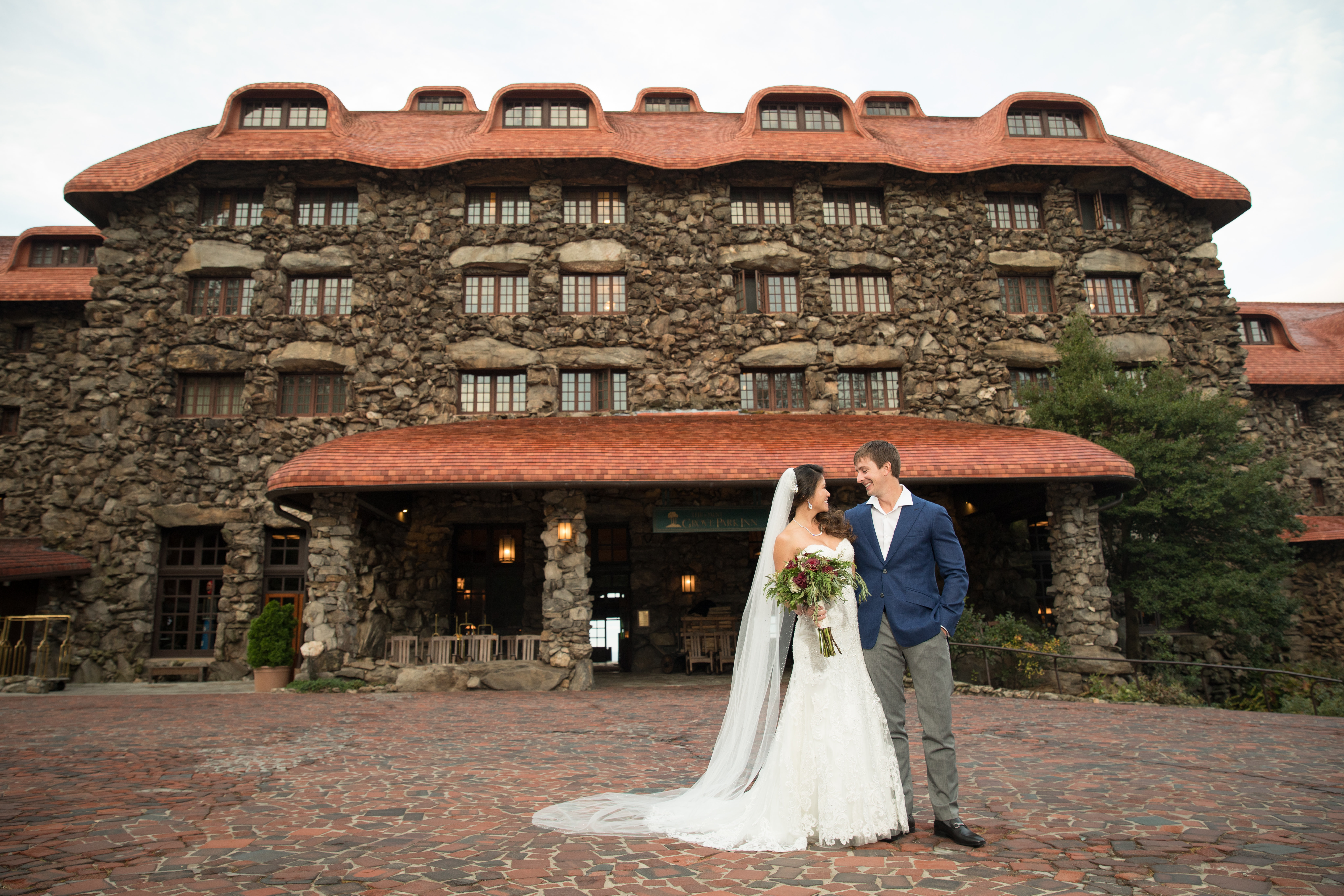 omni grove park inn wedding photos