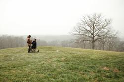 snowy proposal near asheville
