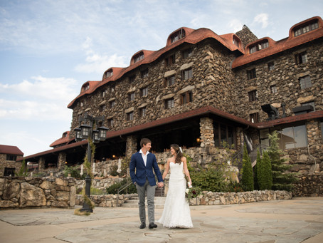 Grove Park Inn First Look session:  Jean + Wes