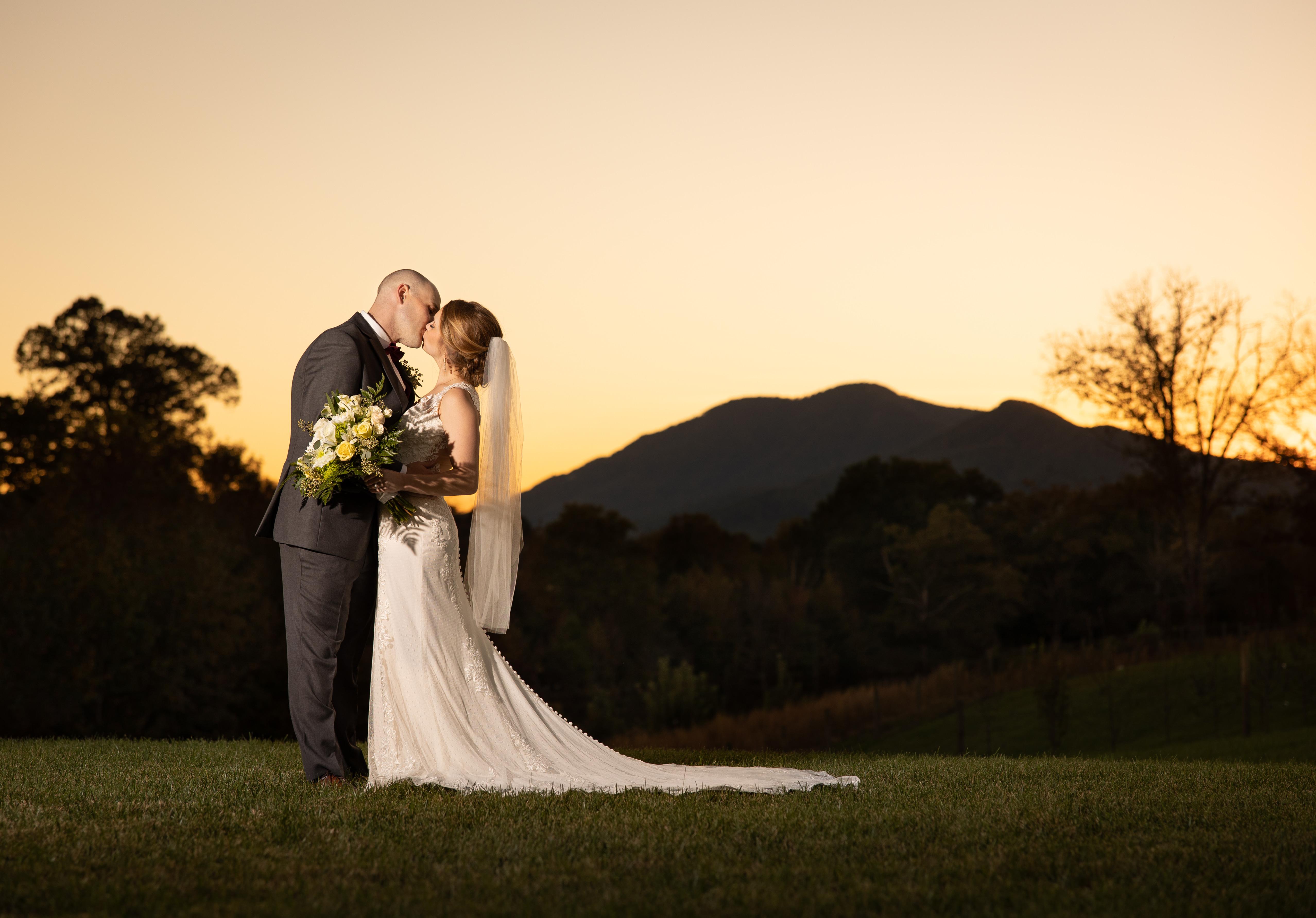 Sunset kiss at Caitlyn Farms