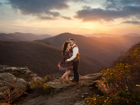 Craggy Gardens Engagement Session : K +D