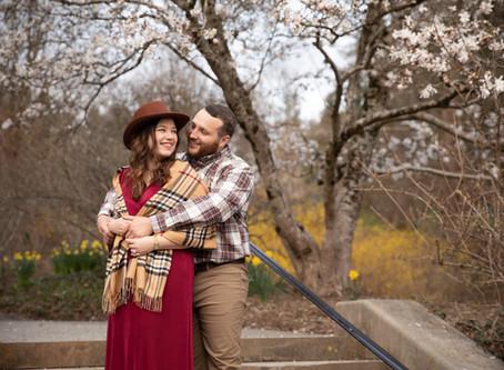Spring engagement photos at The Biltmore: L + K
