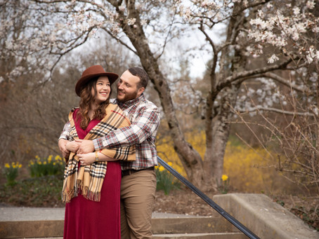 Spring engagement photos at The Biltmore: L + K