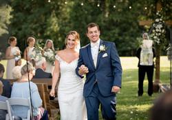 wedding ceremony at windy hill barn