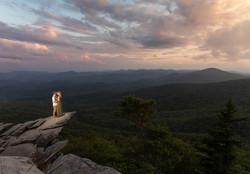 Sunset engagement at rough ridge