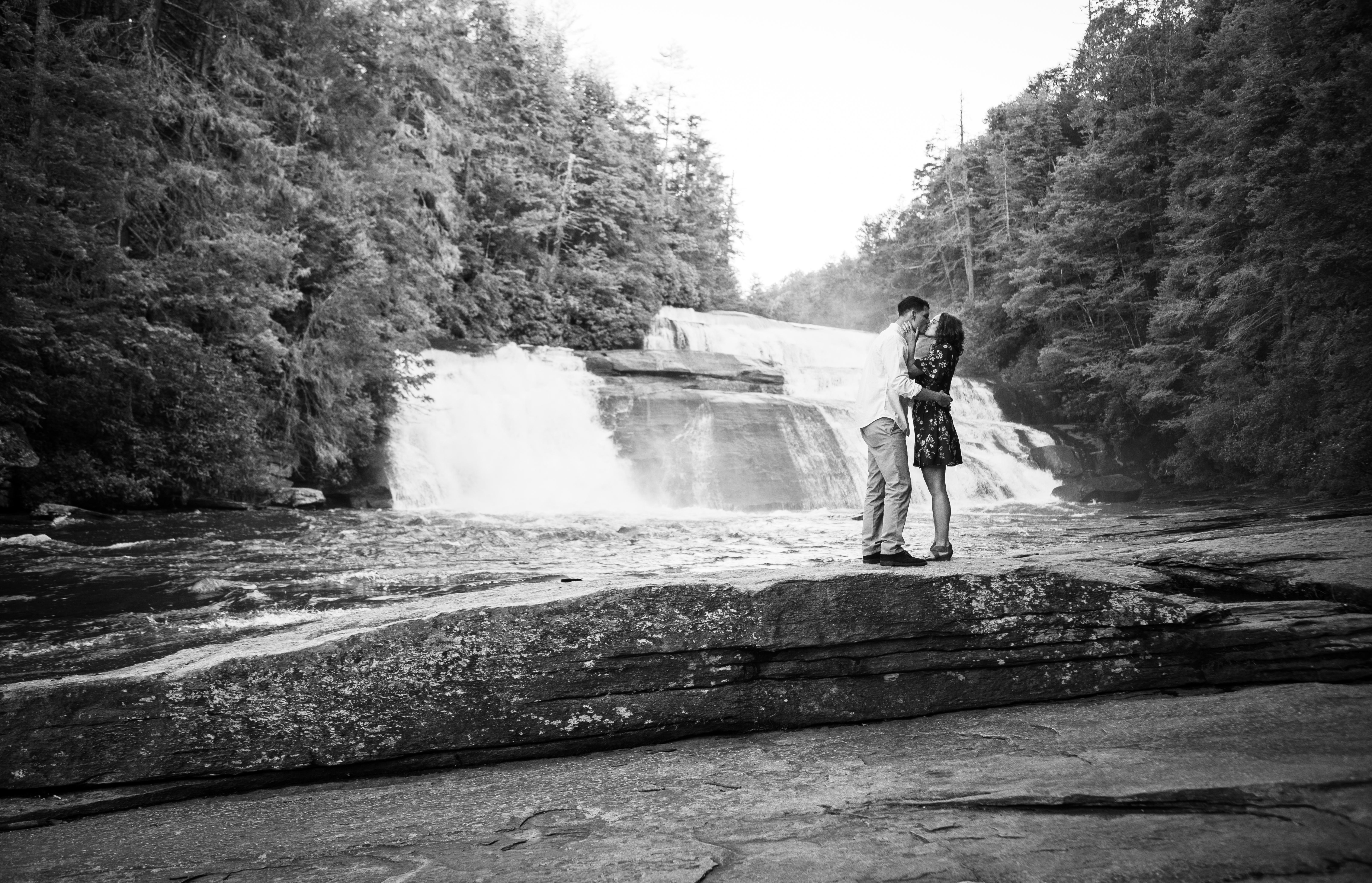 triple falls proposal near asheville