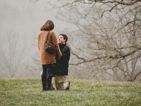 Snowy Biltmore Proposal!!! Alex + Kaitlin