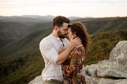 hawksbill mountain engagement photos