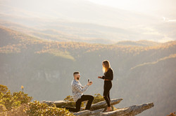 Asheville proposal in the mountains