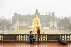 Biltmore Proposal in the rain