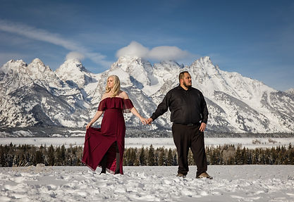 Photo of an Engagement in Jackson Hole