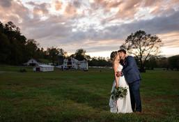 Sunset at Asheville Wedding