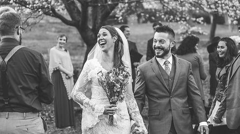 wedding couple in wind