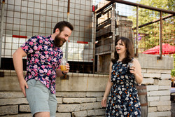 burial brewery asheville engagement