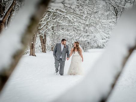 Winter Wonderland Wedding: Chris + Lesley