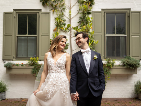 Society Hill Synagogue Wedding:  A + P