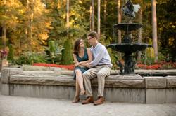 Engagement photos at Duke Gardens