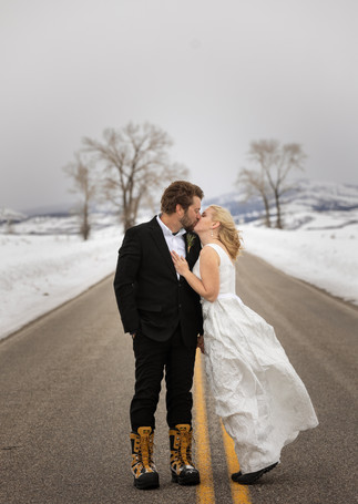 Romantic Winter Elopement Jackson Wyoming